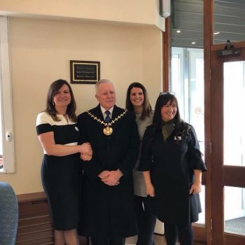 The three founders with Mayor of Knowsley Councillor Frank Walsh