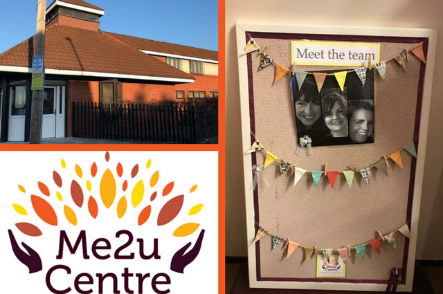 Photo Collage: Me2U Centre, Our Founders and Logo