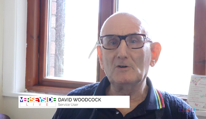 Service user, Dave, on Liverpool TV